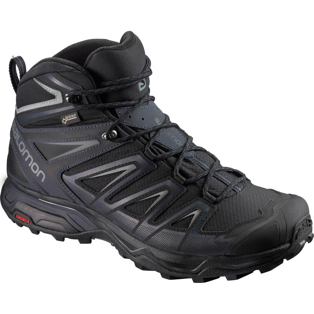 Salomon X Ultra 3 Wide Mid Goretex EU 40 2/3 Black / India Ink / Monument
