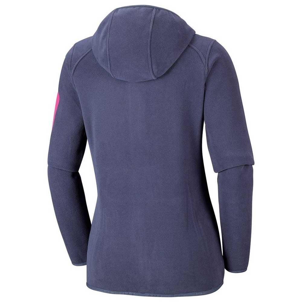 Columbia Outdoor Novelty Hooded Fleece Bleu, Trekkinn