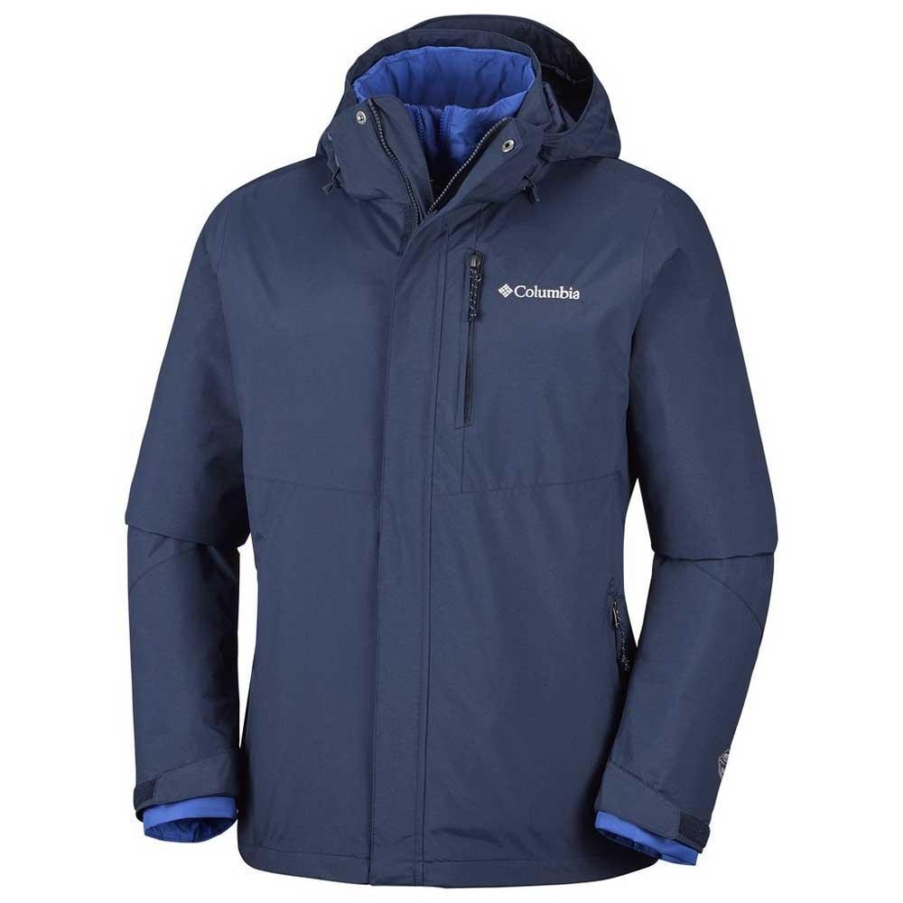 Columbia Waterproof Men/'s Element Blocker Interchange Blue 3 In 1 Jacket L,XL