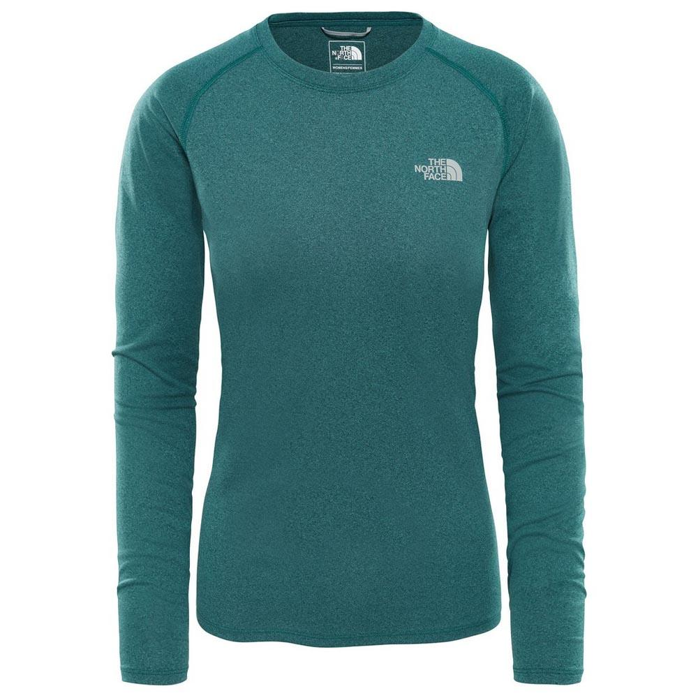 The north face Reaxion Amp L S Crew Green c986ab3eaed4