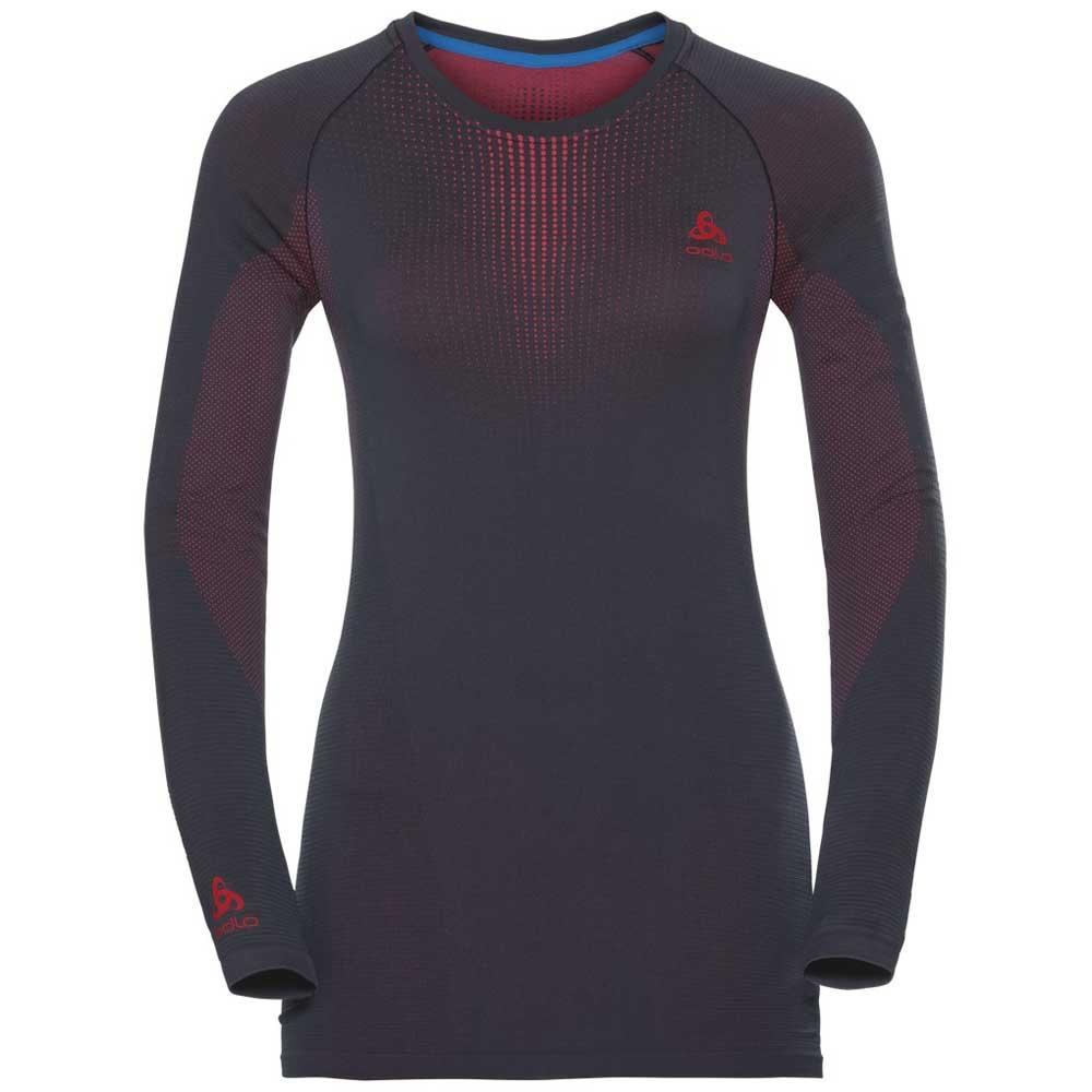 ODLO Womens Shirt L//S Crew Neck Performance Seamless Warm