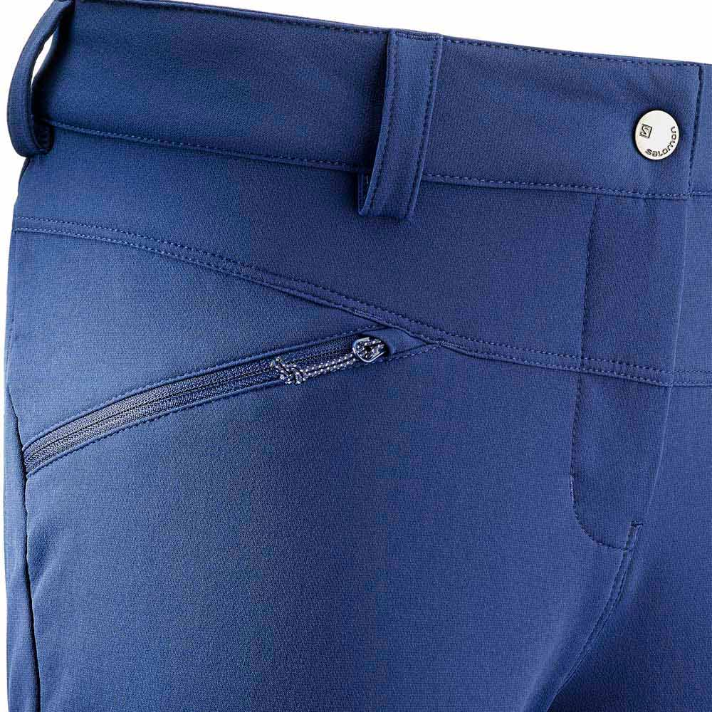 Salomon Wayfarer Warm Pants Short Blau, Trekkinn
