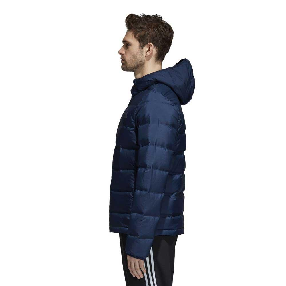 0e59fbda37d5 adidas Helionic Down Hooded Blue buy and offers on Trekkinn