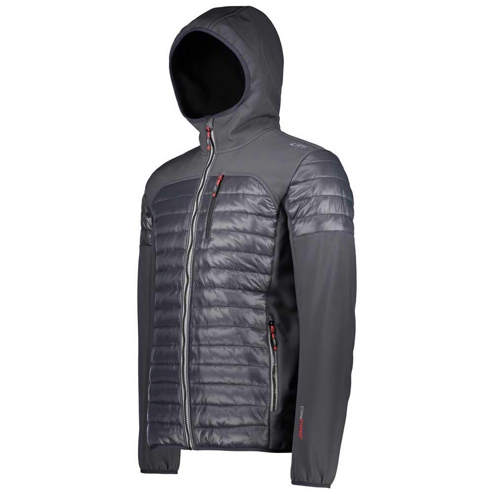 f8ae2dc0 Cmp Man Jacket Fix Hood Hybrid Svart kjøp og tilbud, Trekkinn