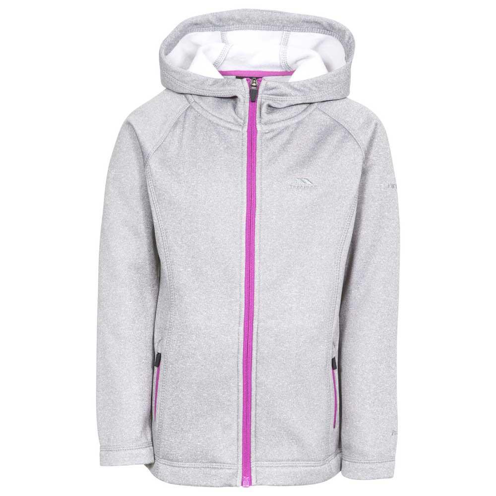 Clothing Trespass Childrens Girls Goodness Full Zip Hooded Fleece Jacket