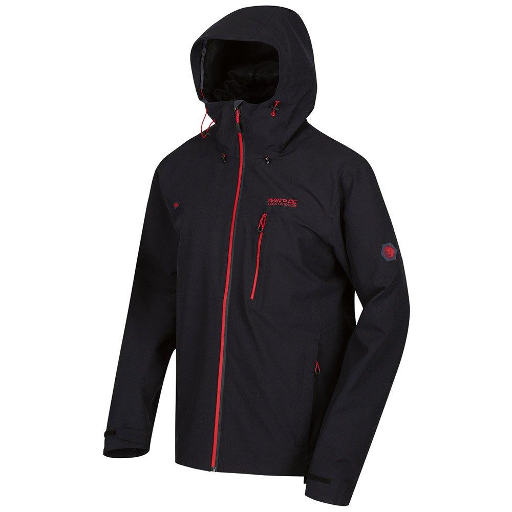Regatta Veste de Randonn/ée Technique /À Capuche Birchdale Imperm/éable et Respirante Waterproof Shell Jacket Homme
