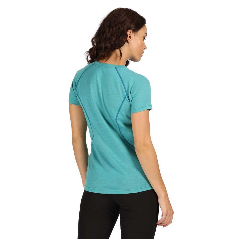 Regatta Womens Tornell Merino Wool Wicking Active T Shirt