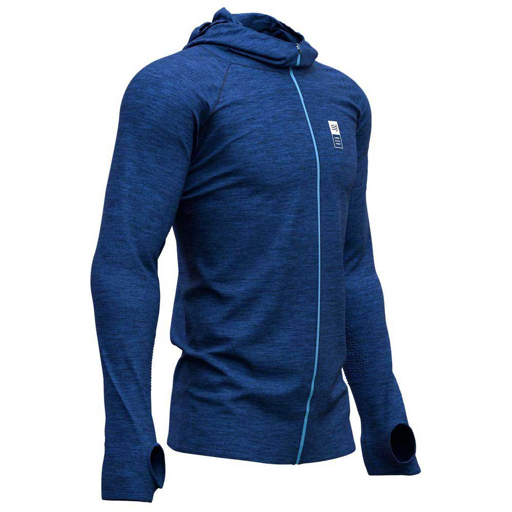 Compressport 3D Thermo Seamless Hoodie Zip Mont Blanc 2019