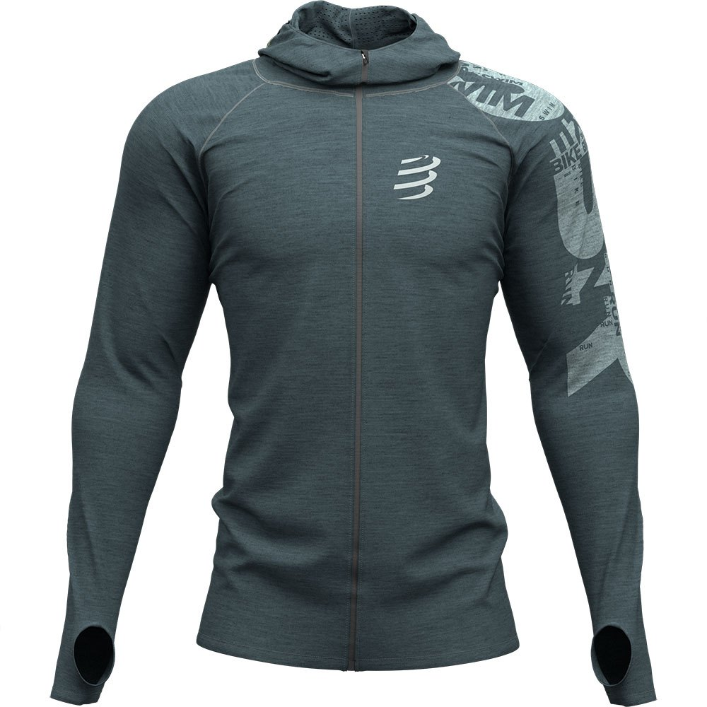 Compressport 3D Thermo Seamless Hoodie Born To SwimBikeRun 2019