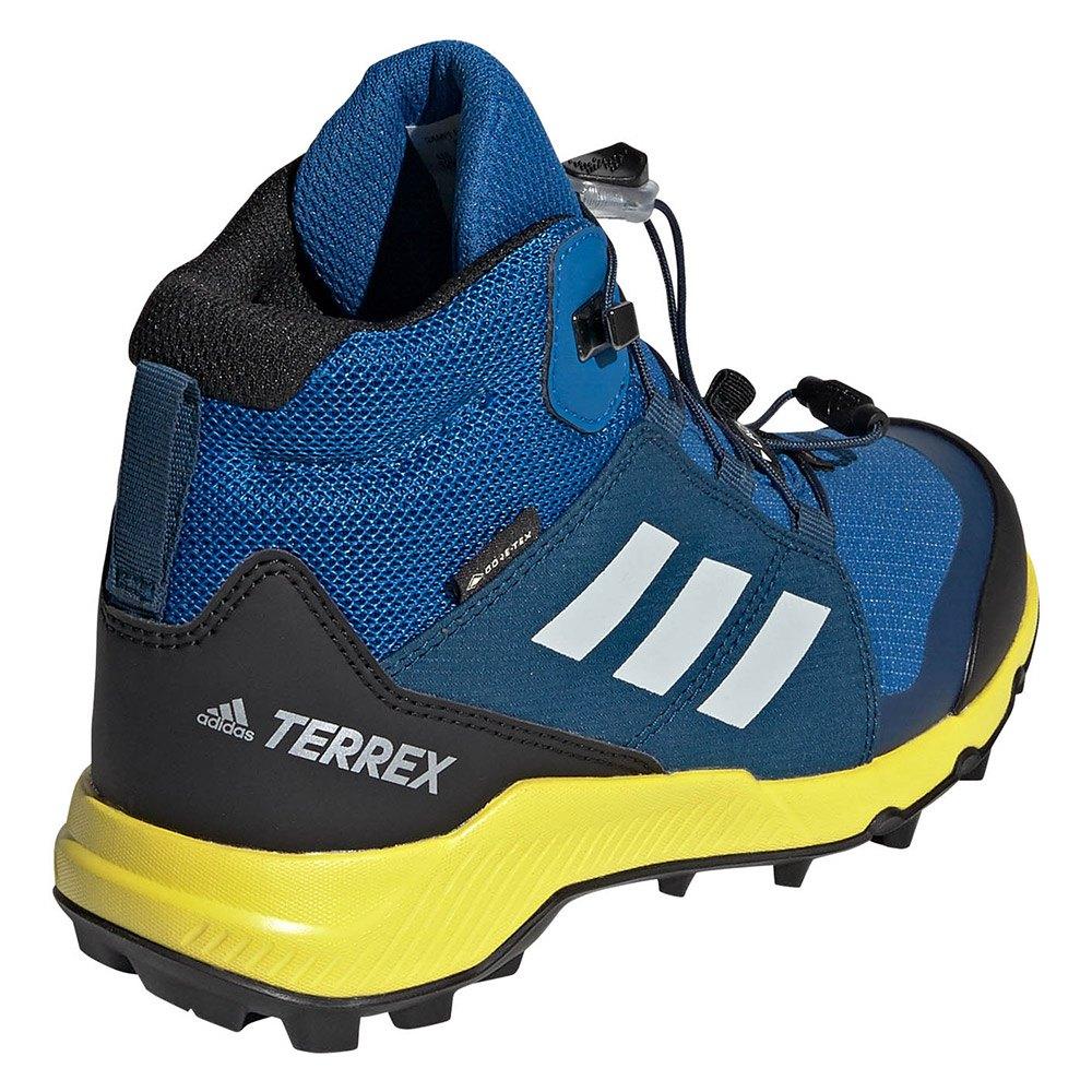 adidas Kid's Terrex Mid GTX Tursko Blue Beauty Grey One Shoyel | 37,5 (EU)