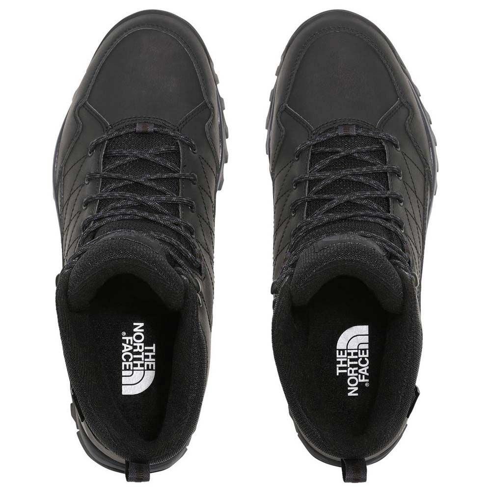 black waterproof walking boots