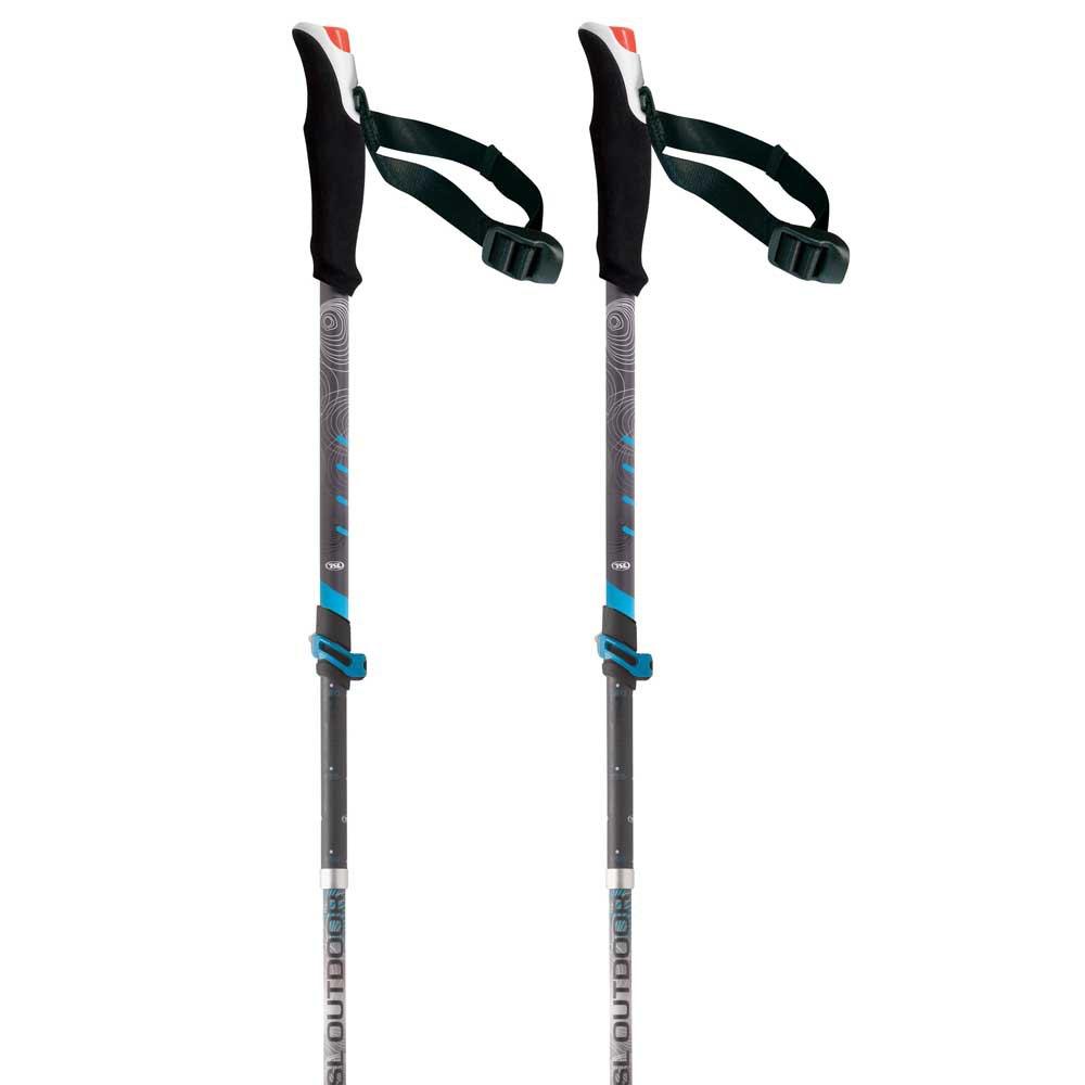 Tsl-outdoor Connect Alu 5 Light Wt Standard 110-130 cm Black / Grey / White