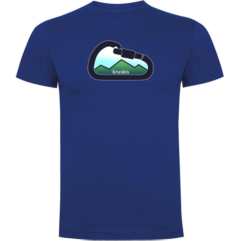 T-shirts Kruskis Mountain Carabiner S Royal Blue