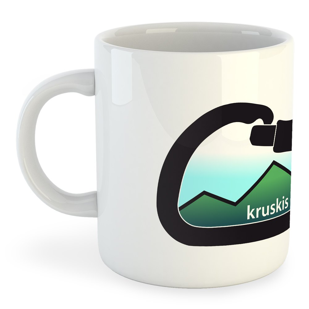 Articles de cuisine Kruskis Mountain Carabiner 325 ml (11 oz) White