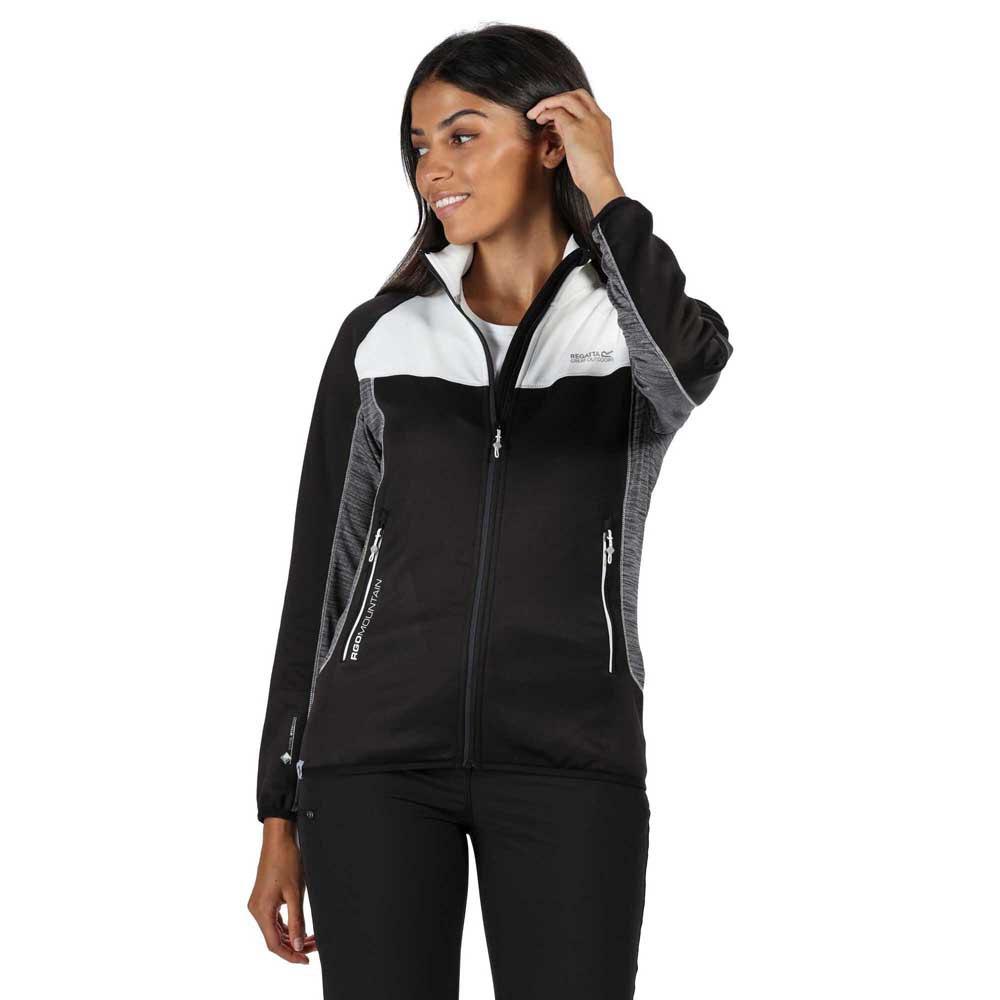Regatta Womens Womens Yare Ii Extol Warm Backed Strech Binding to Collar Cuffs and Hem Full Zip Fleece Jacket