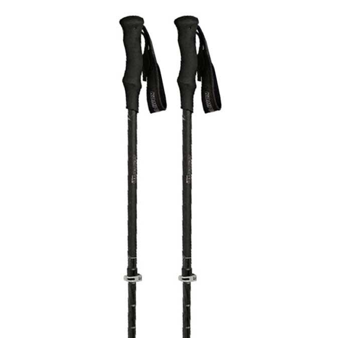 Bâtons de randonnée Komperdell C3 Carbon 105-140 cm Black / Silver