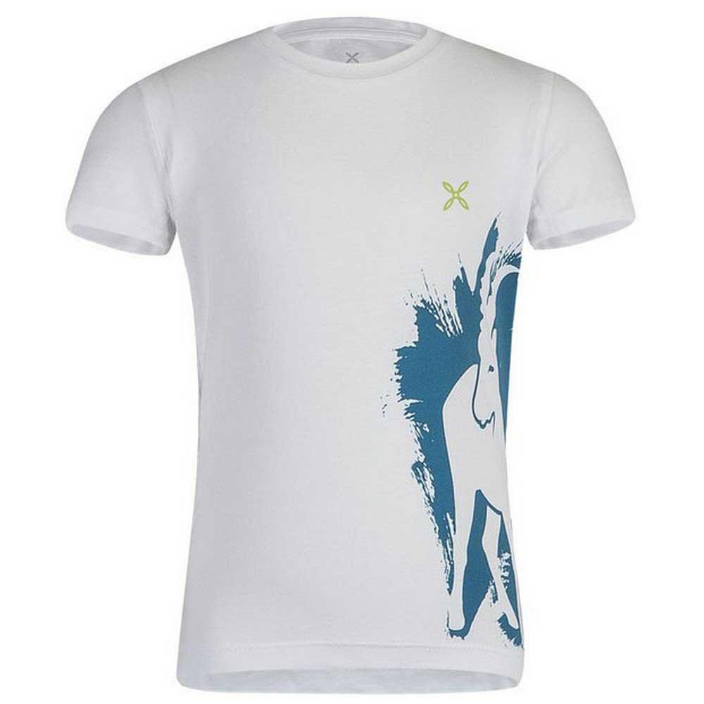 T-shirts Montura Wild Baby 105 cm White / Teal Blue