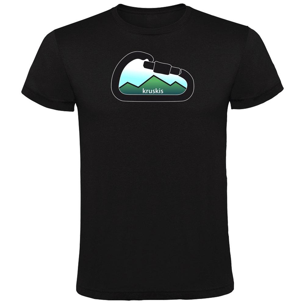 T-shirts Kruskis Mountain Carabiner S Black