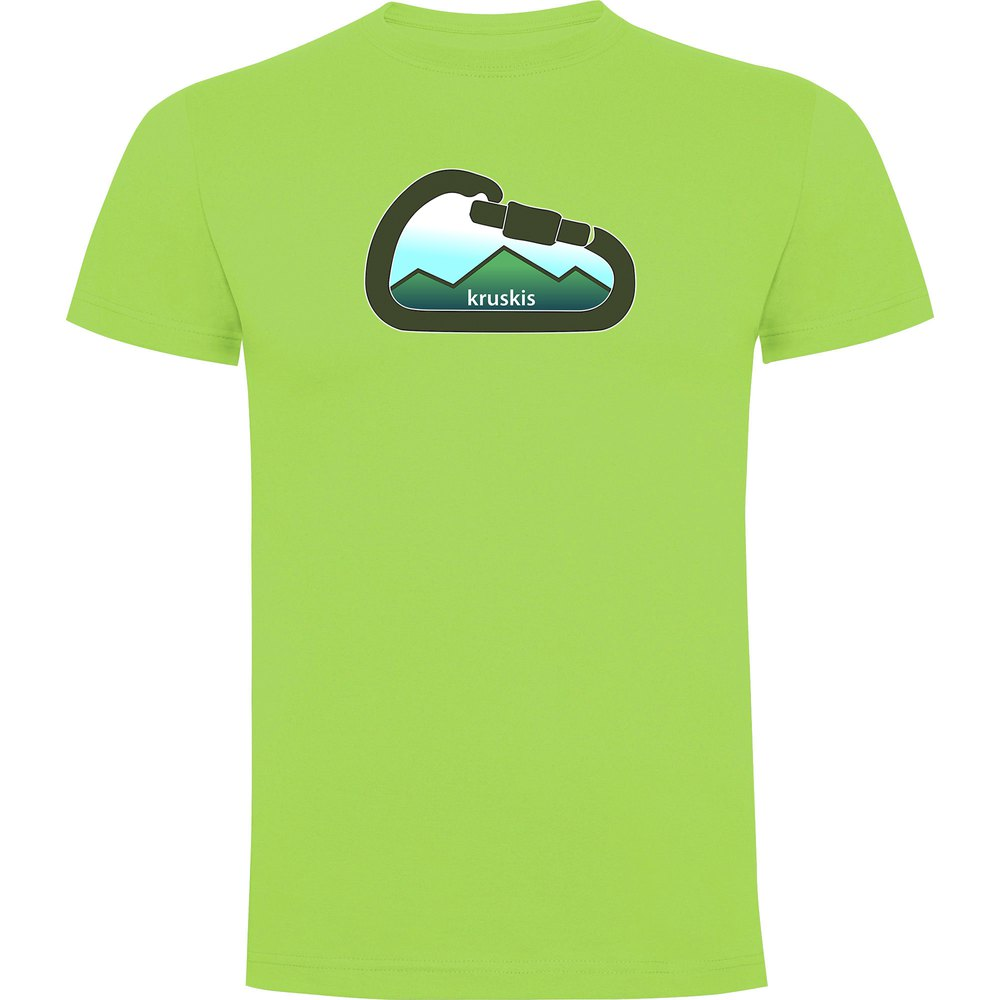 T-shirts Kruskis Mountain Carabiner S Light Green