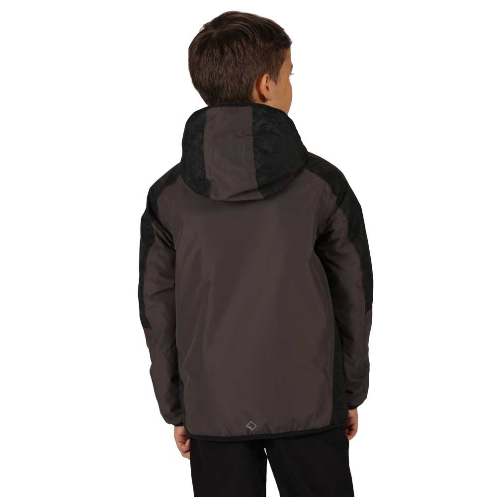 Regatta Childrens Volcanics Iv Waterproof Breathable Highly Reflective Taped Seams Insulated Hooded Jacket