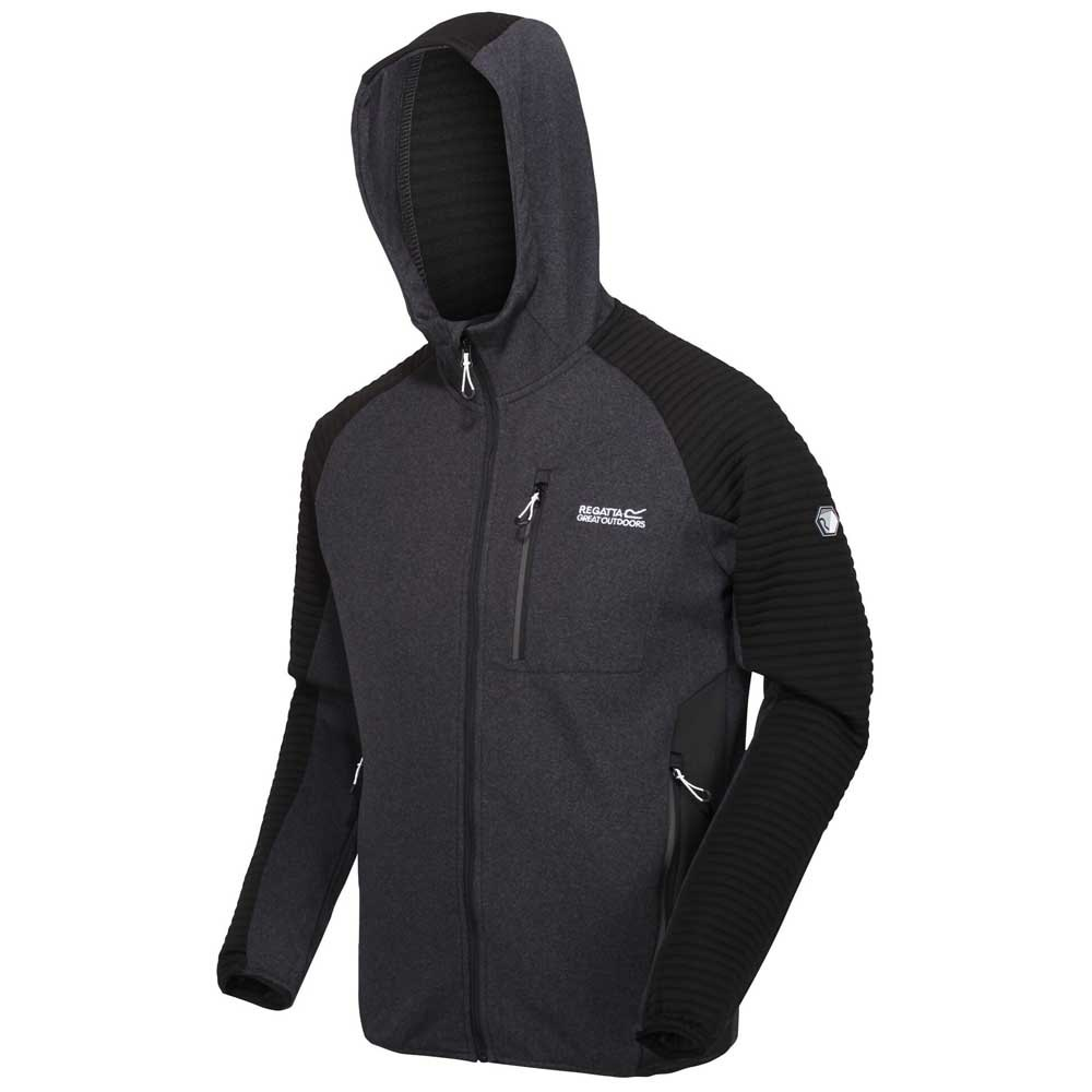 Regatta Mens Brookfeld Stretch Hooded Softshell Jacket With Zipped Pockets Fleece