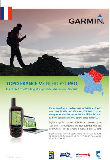 GARMIN Topo France V3 Pro Nord Est - Activerouting