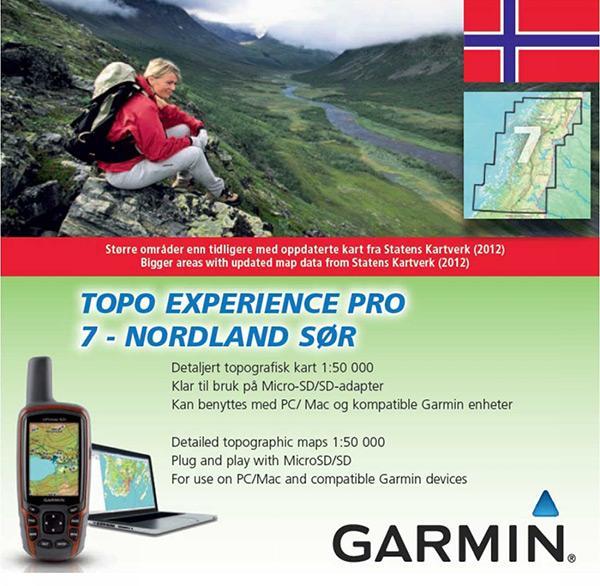 topo pro kart Garmin Topo Experience   Nordland Sor PRO 0, Trekkinn topo pro kart