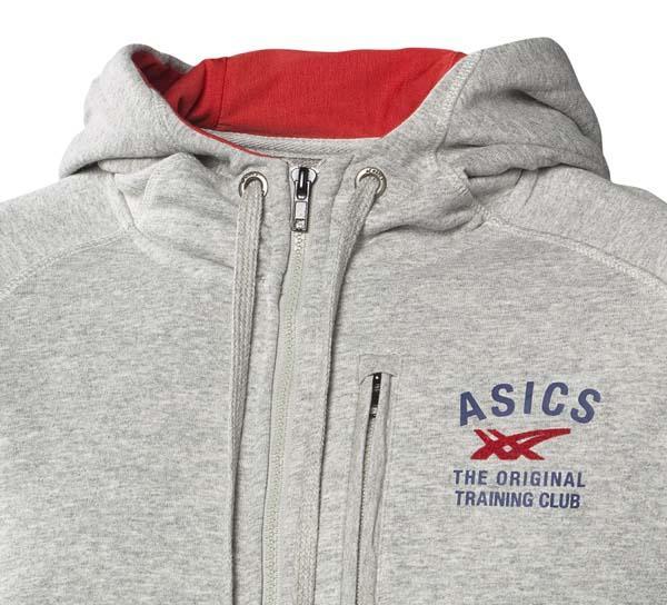 asics zip hoodie