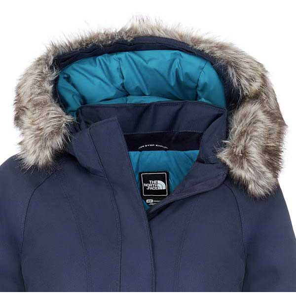 North face women's arctic parka white