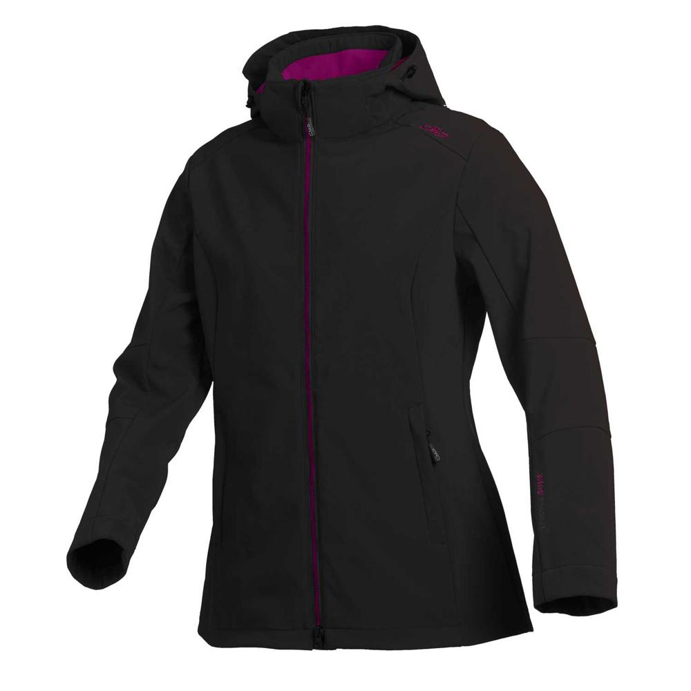 Cmp Softshell Jacket Zip Hood Antracite