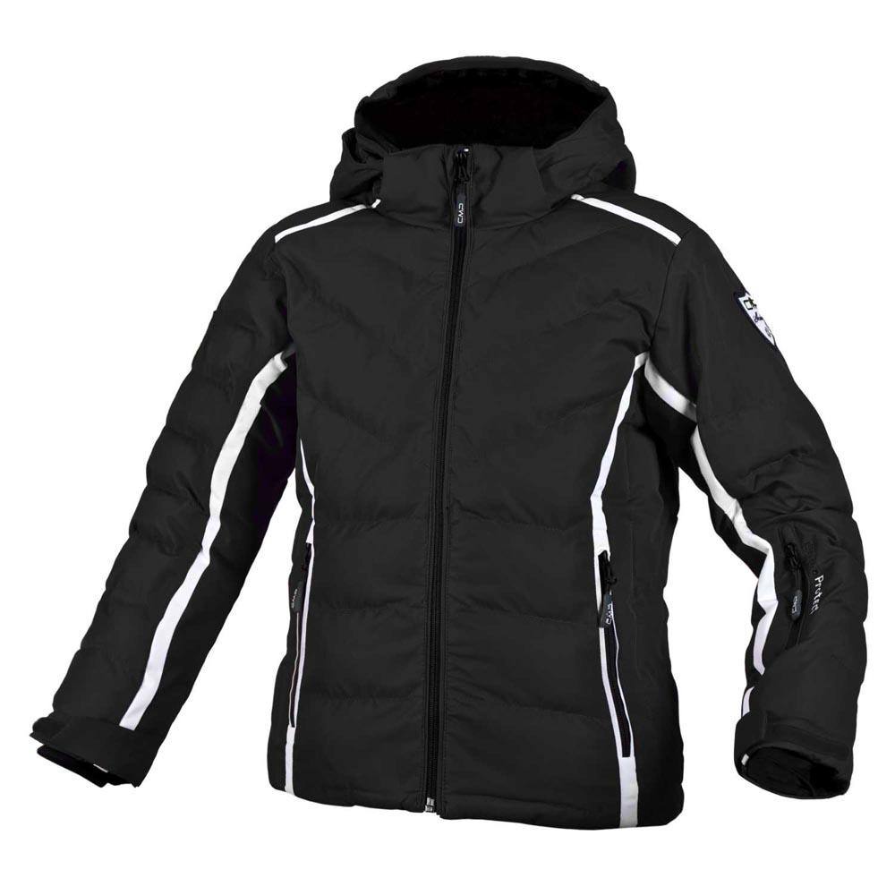 Cmp Ski Jacket Snaps Hood / White Girl