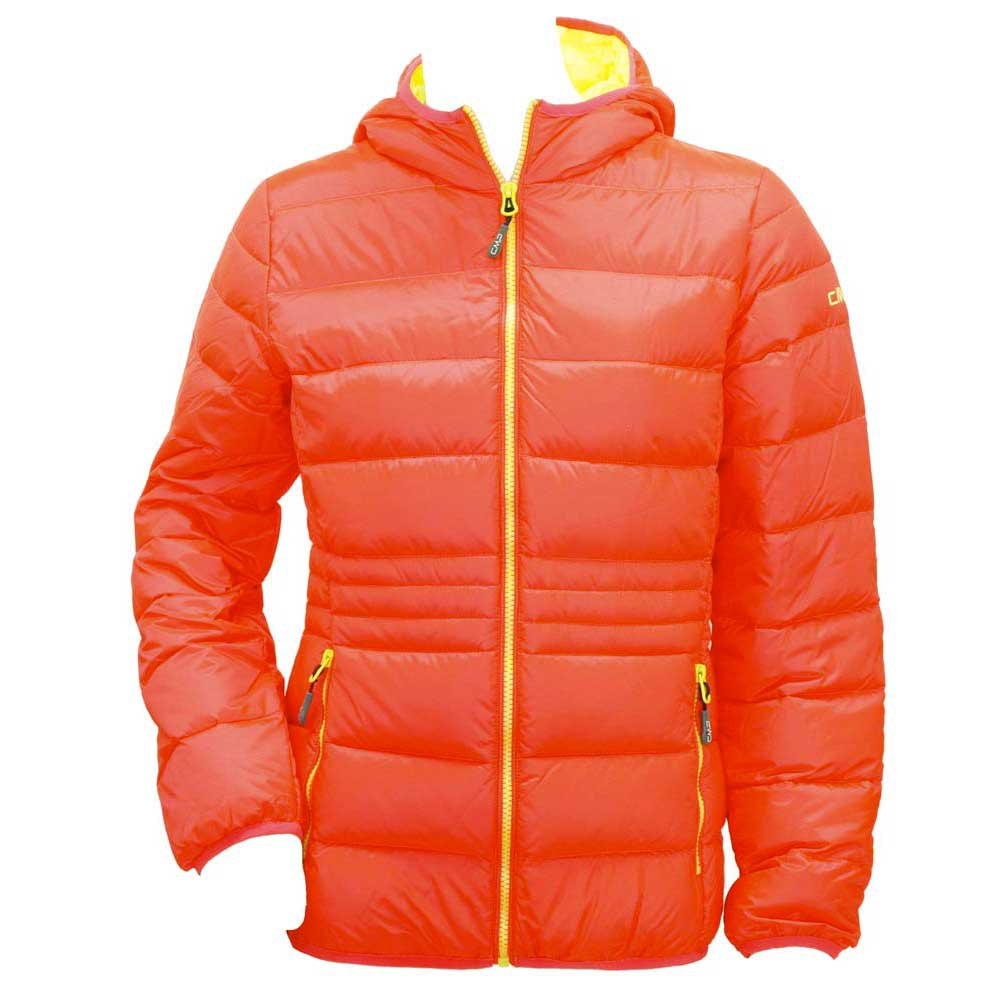 Cmp Jacket Fix Hood Red Fluo-Yellow Fluo Girl