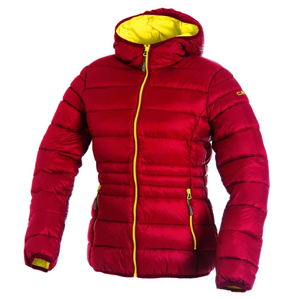 Cmp Jacket Fix Hood Red Fluo-Yellow Fluo