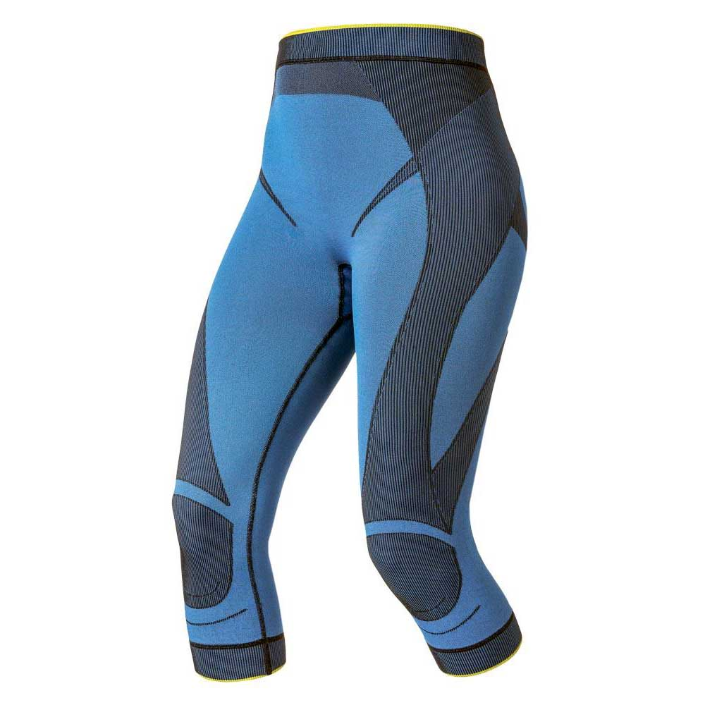 bb2ccc02903220 Odlo Pants 3/4 Evolution Warmtec Blue buy and offers on Trekkinn