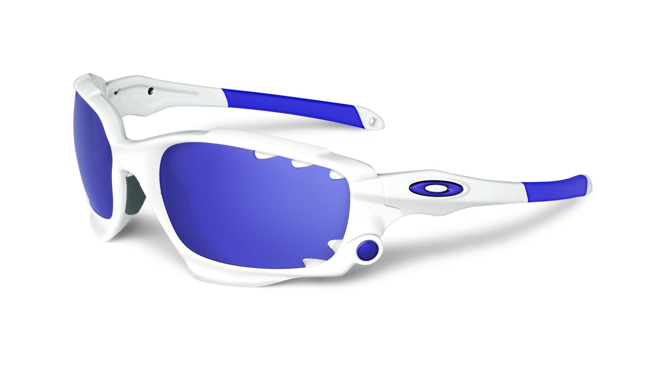 09f3ecf32fd Oakley Racing Jacket White   Violet buy and offers on Trekkinn