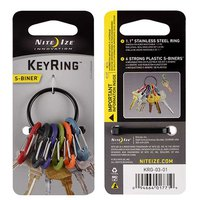 Nite ize Key Ring 6 Carbiner Plastic