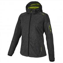 Cmp Zip Hood Softshell Melange Woman