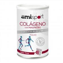 Amlsport Colageno con Magnesio Vit C + Vit B1 + B2 + B6 Strawberry Box 6 Units