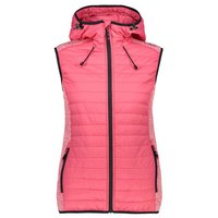Cmp Woman Vest Fix Hood Hybrid